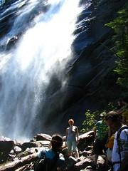 Crowds galore at Bridal Veil Falls