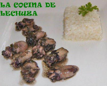 Choquitos-plato con arroz