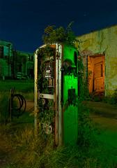 Bio-Fuel (Noel Kerns) Tags: abandoned station night point texas gas pump pilot