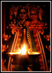 Om Namashivaya: Lord Shiva &Parvathy (Midhun Manmadhan) Tags: india iso100 exposure god trinity shiva hindu f8 15seconds lordshiva canonpowershots3is