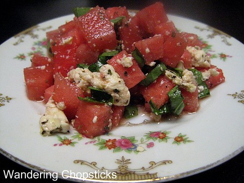 Watermelon, Feta, and Basil Salad