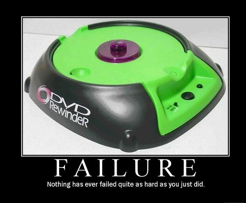 Failure: DVD rewinder