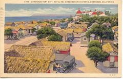 Coronado Tent City postcard, 1944