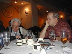 Murray Gell-Mann and Tom Munnecke in Santa Fe, NM