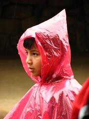 Kid in plastic mac (Sparky the Neon Cat) Tags: world boy heritage peru southamerica machu picchu inca cuzco america kid mac child cusco south inka unesco plastic machupicchu raincoat macchu incan inkan