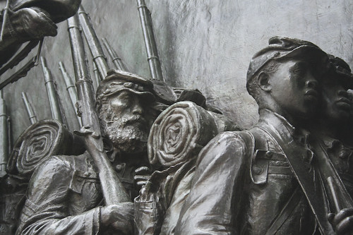 African Americans, 54th MA Infantry Memorial - Boston