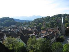Blick auf die Altstadt von Feldkirch (wagnerthomas1) Tags: summer austria feldkirch sterreich sommer 2008 altstadt ausblick vorarlberg schattenburg