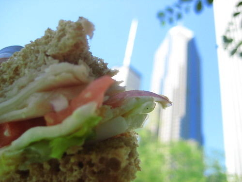 Sandwich and the city!