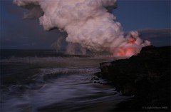 Hawaii's Active Lava Flow Before the Sun Comes Up (SparkyLeigh) Tags: wow spectacular ash blast pele billowing naturesfireworks volcanohawaii lavaplumehawaii massivelavaplume explosivelavasea leighhilbertlavaphotos stunninglavaphotos amazinglavaphotos leighhilbertlavaphotography moltenlavablast lavaplume volcanogoddess lavaflashexplosiveplumemagma sulfurdioxideplume glassexplosive volcanolightning surreallava lightninglavabolt lavaplumeelectricity electriclava lavaoceanplumeexplosive moltenredlava lavaplumesunrise lavadawn coolclouds redlava lavaglow wavesandlava moltenlavaentersoceansea lavapali