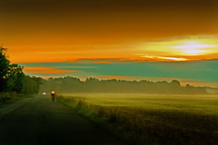 morning way 1 (renschmensch) Tags: morning light color colour nature colors weather clouds way landscape deutschland licht amazing colours outdoor sommer natur exhibition landschaft sonne sonnenaufgang morgen brandenburg soe finest heimat natures wetter heide acker outstanding radfahrer biosphre radsport niederlausitz amazingcolor radurlaub abigfave colourartaward artlegacy goldstaraward heideblick coolgermany