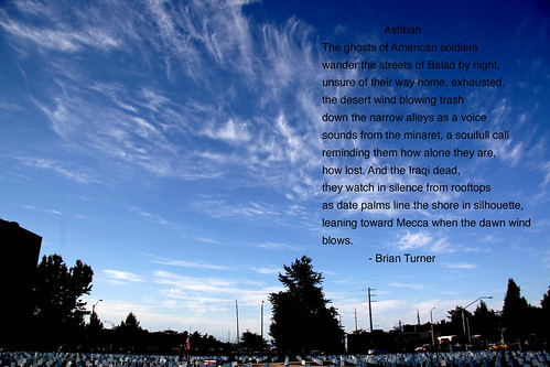 Sky over Arlington Northwest, Olympia, Washington, and Ashbah, a poem by Brian Turner
