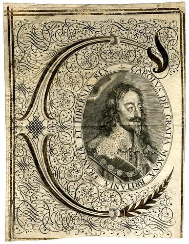 32- Inicial con portarretrato de Carlos I tomado de un documento legal de 1630