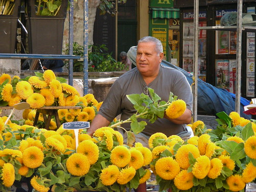 sunflower seller