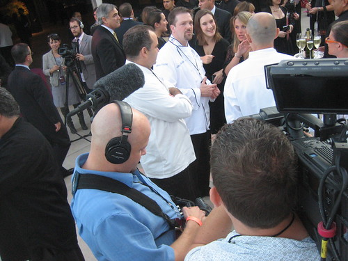 sister city chefs among the media crowd