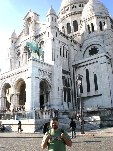 Tyler at the Sacre Coeur