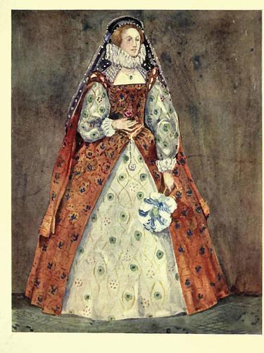 16- Vestimenta mujer epoca Reina Elizabeth (1558-1603)