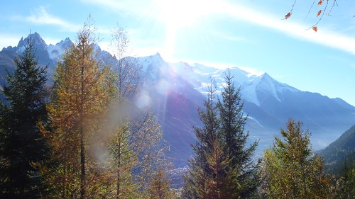 Autumn Mont Blanc from Flegere