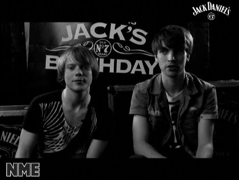 Ross & Sam from Late Of The Pier at Jack Daniel Happy Birthday Session on NME site ♥♥♥♥♥♥