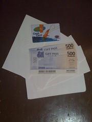 SM Gift Certificates + Taste Asia Cash Card