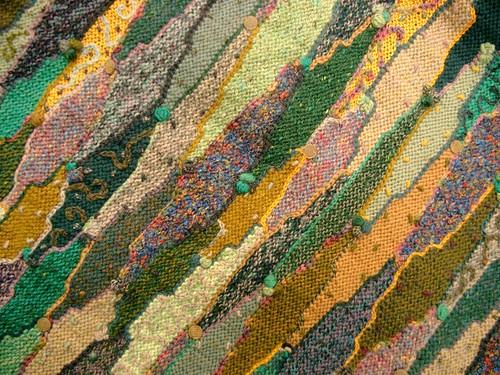 random knit intarsia closeup