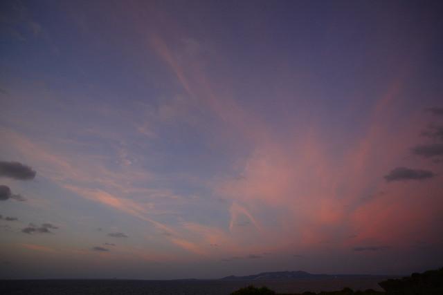 巨大な夕焼け