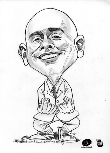 Caricatures Web in Travel 2008 Karthik Siva