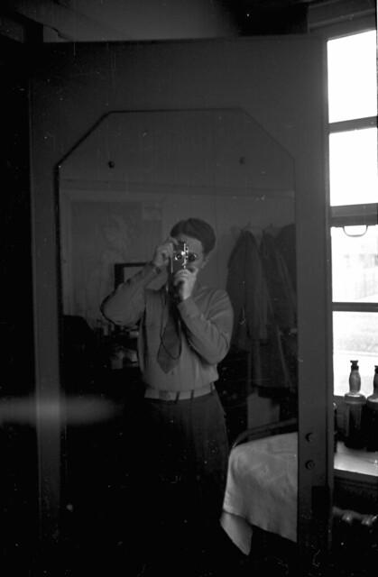 Self mirror portrait 35mm El 3.5 40th sec