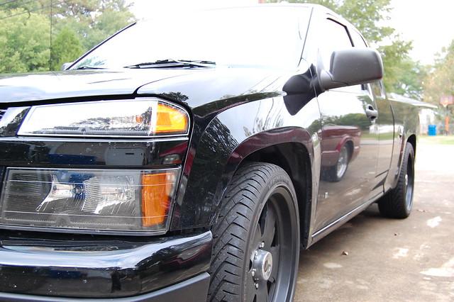 black chevrolet colorado wheels alabama 2008 lowered bluff 20inch centerline hokes