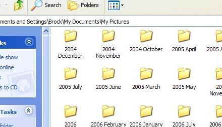 Icons Folder View Closeup