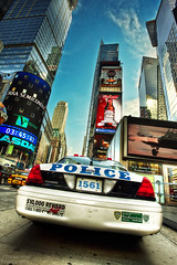 Police Interceptor (Jrg Dickmann Photography) Tags: nyc newyorkcity ny newyork ford topf25 car geotagged topf50 cops unitedstates manhattan police nypd wideangle timessquare canon5d topf100 hdr interceptor 17mm canon1740 3xp 1561 jrgdickmann geo:lat=40756809 geo:lon=73986153
