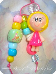 Chaveiro de Roberta (Alane  maria julia biscuit) Tags: cute cores handmade artesanato artesanal biscuit fofo cor colorido porcelana porcelanafria feitoamao