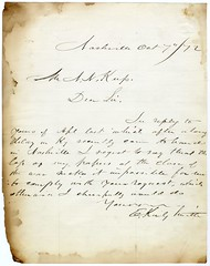 Edmund Kirby-Smith letter, about his wartime papers