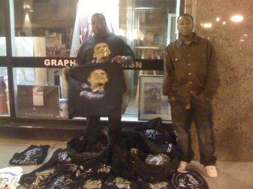 T-shirt vendors