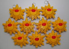 Chaveiros sol (    Arte com Amor    ) Tags: aniversario sol lembrana feltro festa presente nascimento chaveiro