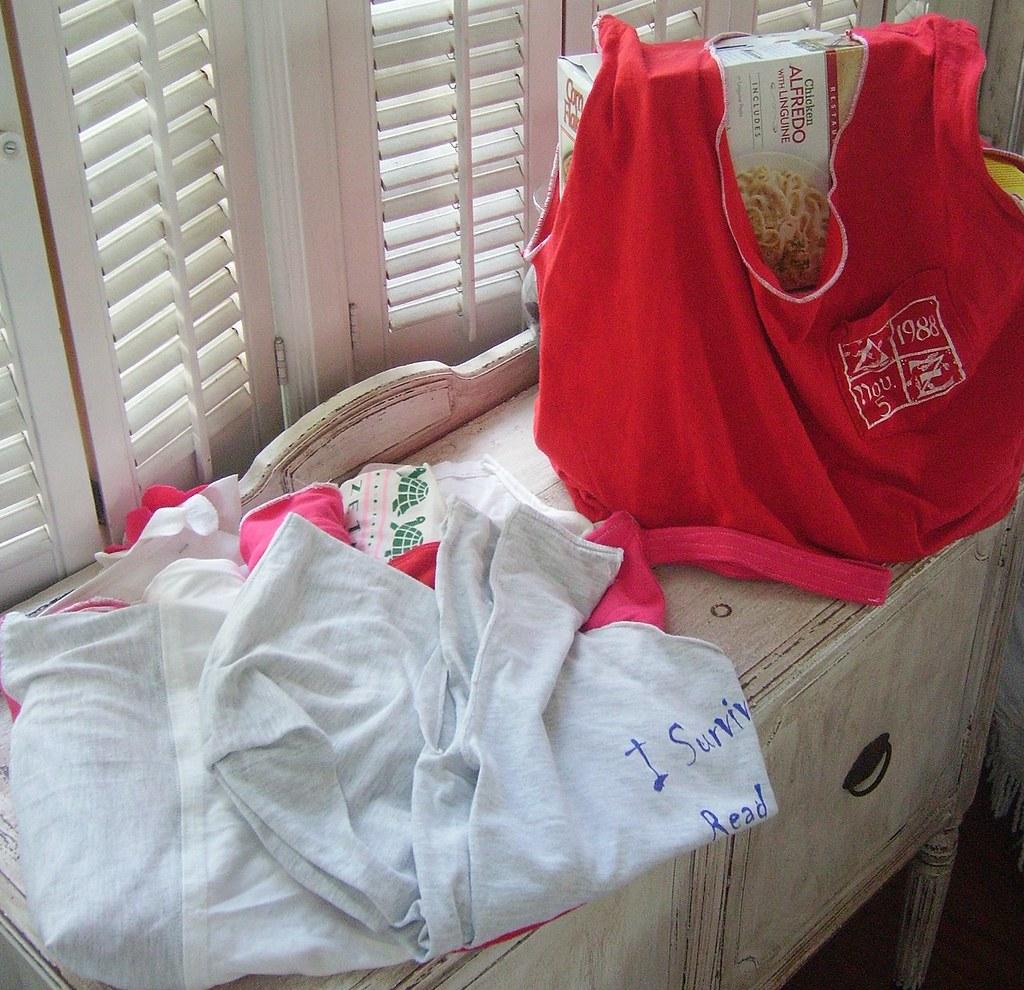 T Shirt Reusable Grocery Bag Set