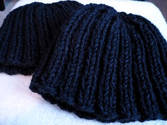 Hats for TAPS (sassenach) Tags: knitting hats taps gift fo finishedobject ghosthunters theatlanticparanormalsociety ravelry ghosthuntersgiftalong