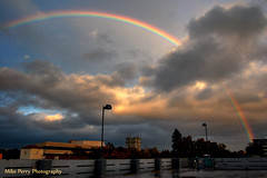 My dream is to fly...over the rainbow SOO high (mrperry) Tags: rainbow parkinggarage downtownsacramento cloudsandsun rainbowcolors secondsaturday riseup yveslarock rainbowandclouds stormcloudsbreaking lstreetlofts
