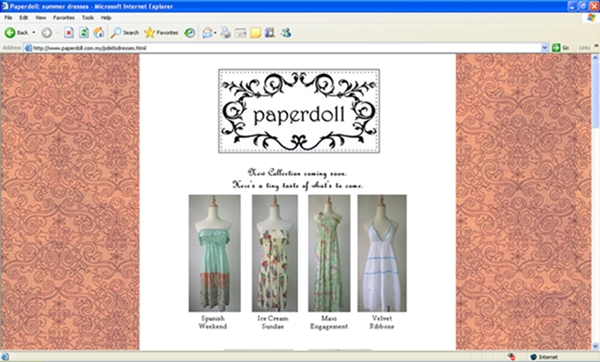 Paperdoll online boutique website