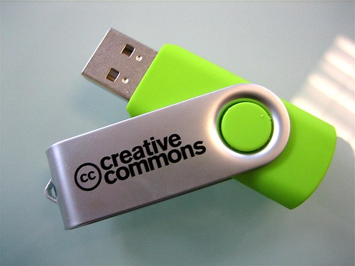 Mega Green Flashdrive by creativecommoners.