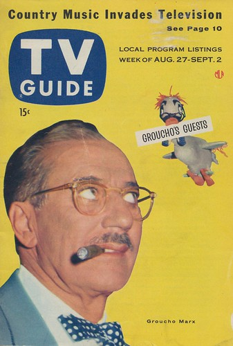 TV Guide - August 27 - September 2, 1955 Groucho Marx
