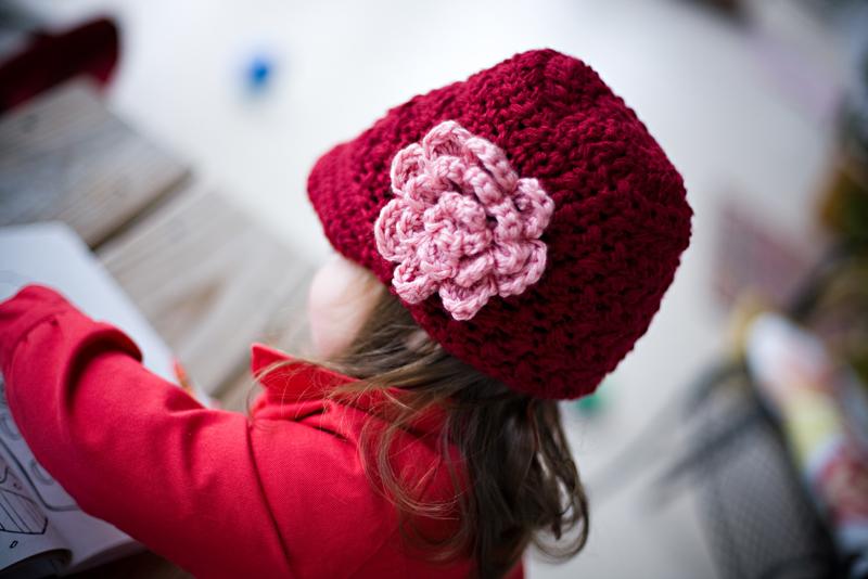 Chloe's handmade b-day hat