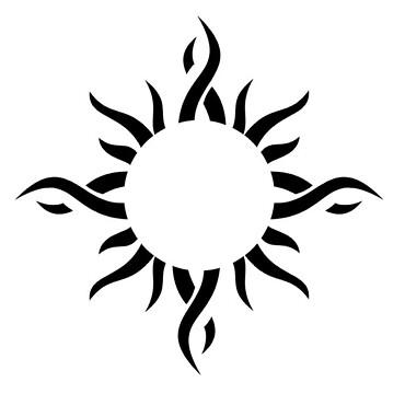 Small tribal wrist tattoo design image. More at Wrist Tattoo
