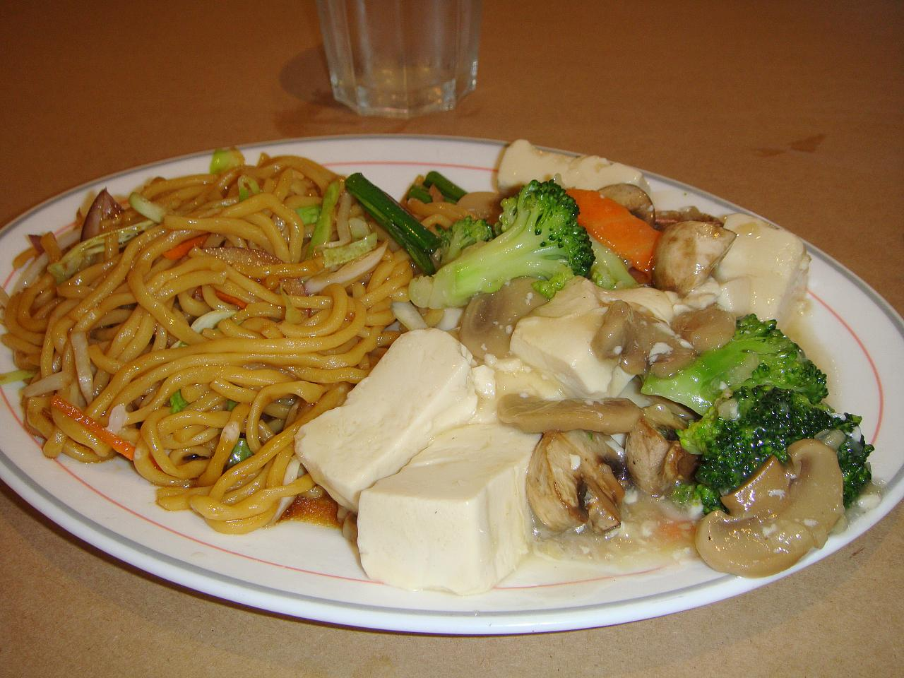 Tofu and Broccoli with Black Mushrooms