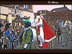 Sinterklaas,Groningen stad,the Netherlands,Europe. (Aheroy(2Busy)) Tags: city holland art netherlands sinterklaas dutch architecture town zwartepiet europe colours different arts nederland surreal sint 5december hallucination groningen tradition piet stad beautifull zwarte townview aheroy aheroyal