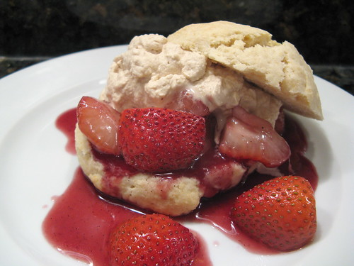 Drunken Strawberry Shortcake with Coffee Cream
