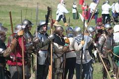 IMG_5415 (jgmdoran) Tags: canon flags archer reenactment 2007 militaryodyssey platemail lancastrians billhook arquebus waroftheroses highmedieval yorkists