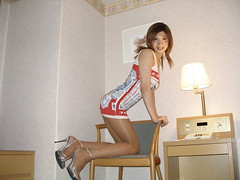 Budweiser minidress_54 (Kyoko Matsushita) Tags: stockings asian tv legs cd crossdressing tgirl transvestite heels budweiser pantyhose crossdresser kyoko matsushita minidress
