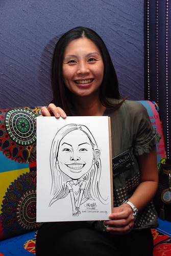 Caricature live sketching for Dow Jones 13