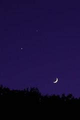 Happy smile (Masaaki Kitagawa) Tags: moon smile night happy star venus crescent jupiter