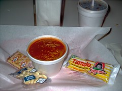 Chilli and a Tamale. Goodie's Hot Dogs. River Grove Illinois.